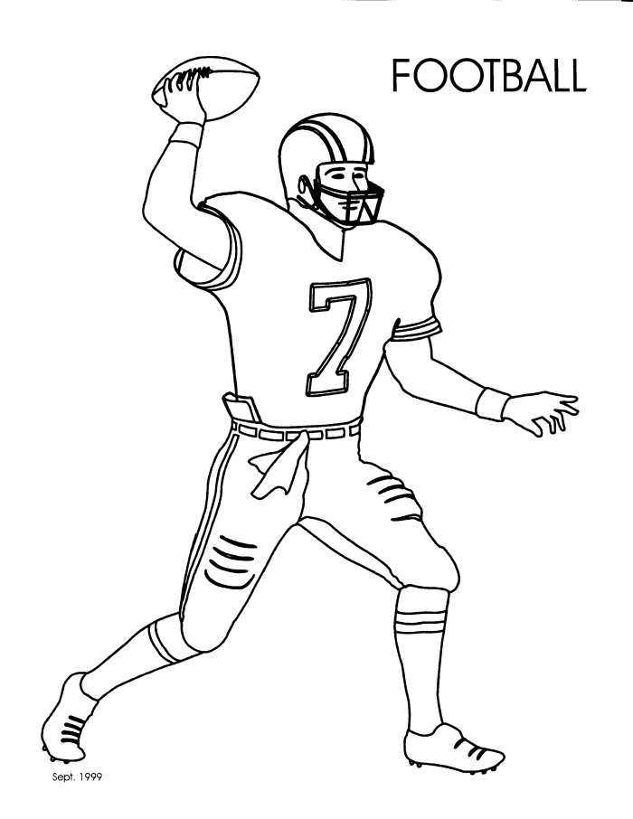 Football pictures to print and color