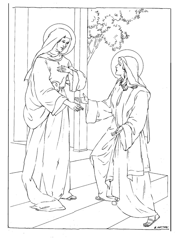 Mary and Elizabeth Bible coloring page | Mary, Queen of Heaven Lapbo…