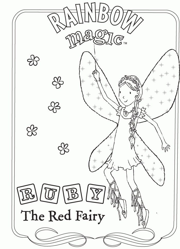 rAIN BOW magic Colouring Pages