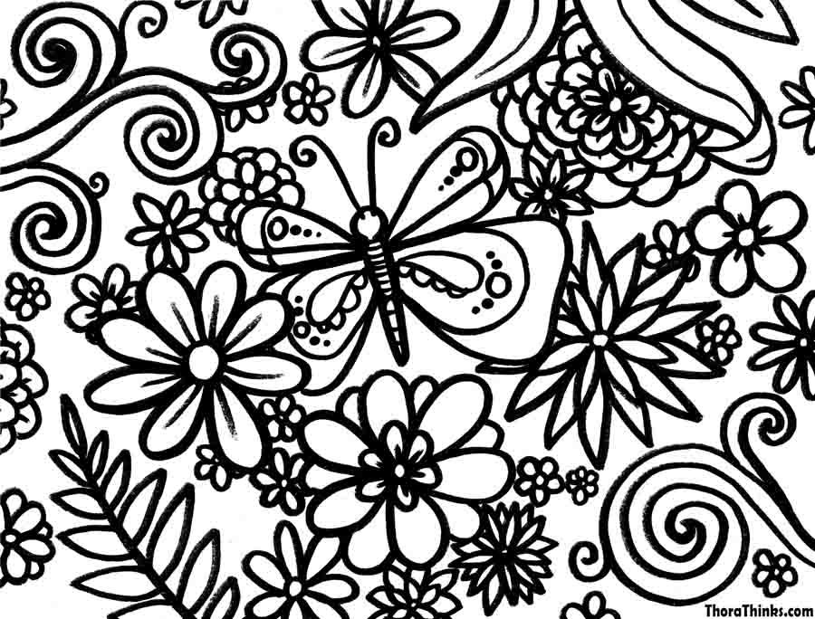 Spring Coloring Pages For Adults - Coloring Home