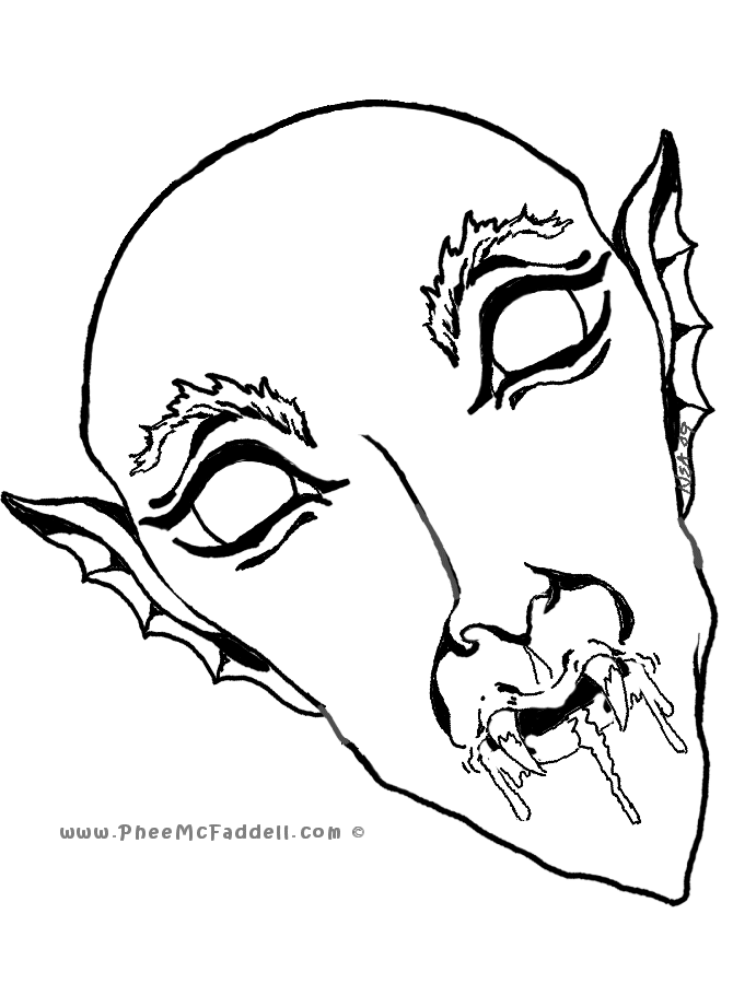 Vampire Coloring Page For Adults