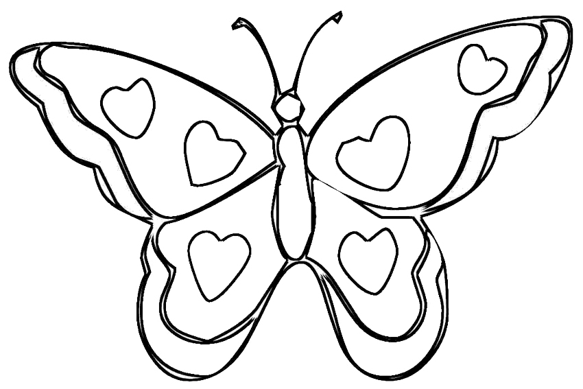 butterfly to color az coloring pages