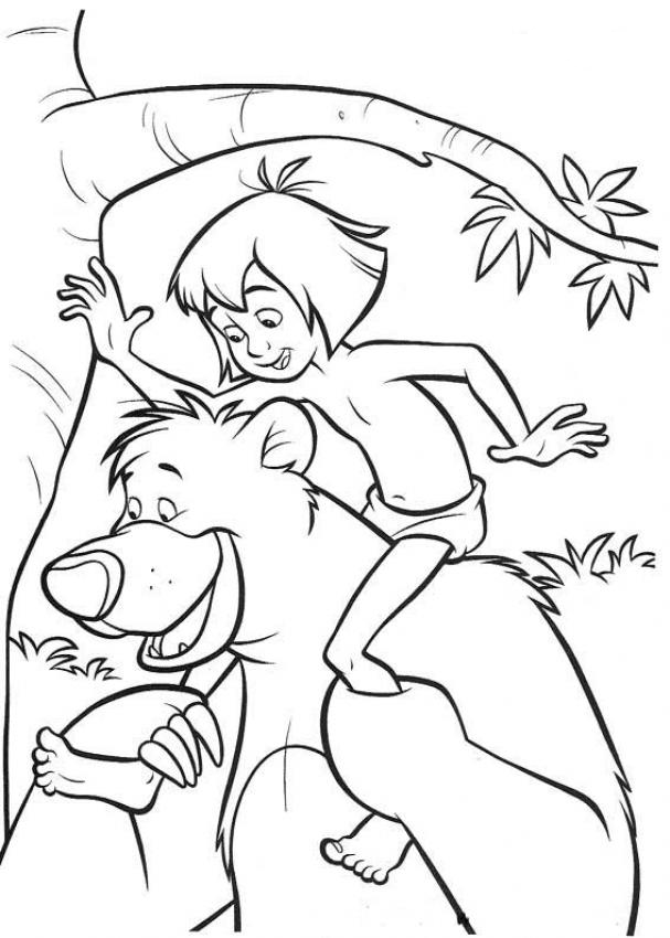 jungle book coloring pages free printable download coloring
