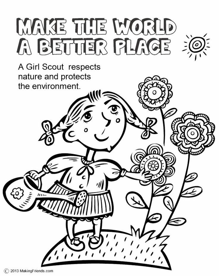 girl scout cookies coloring pages - photo#6