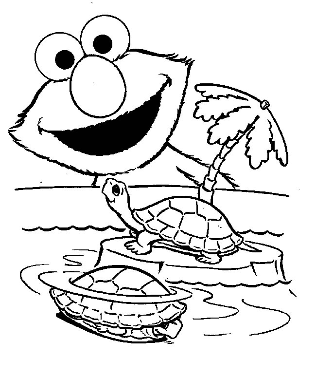 seasme street coloring pages - photo#31