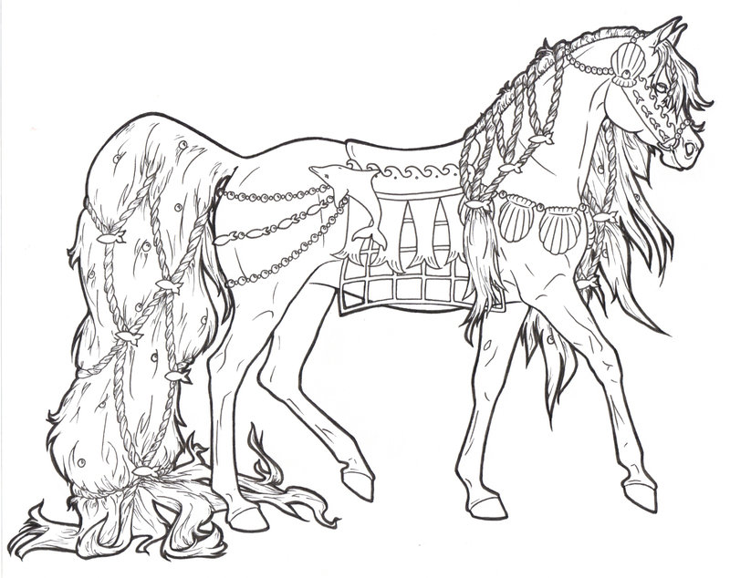 coloring pages carousel horse - photo#18