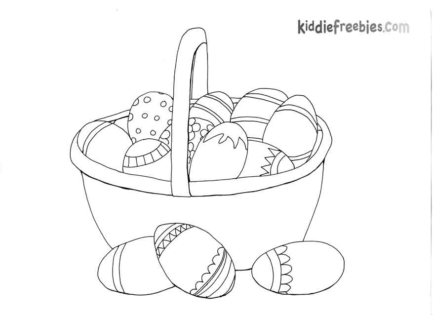 Basket Coloring Page Easter Basket Coloring Pages