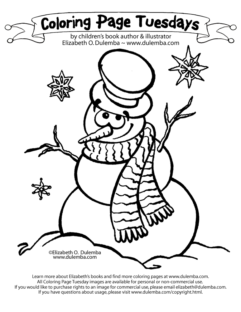 dulemba: Coloring Page Tuesday - Snowman