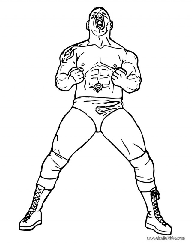 Wwe Wrestlers Coloring Pages Wwe Wrestling Coloring Pages Online