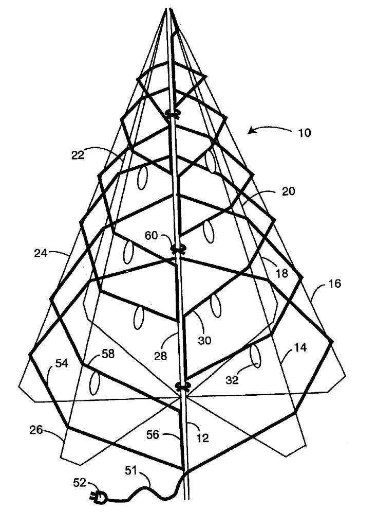 Outline Of Christmas Tree  Coloring Home