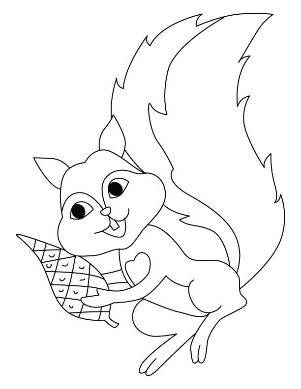 Squirrel coloring pages for preschool coloring home for Printable coloring pages of squirrels