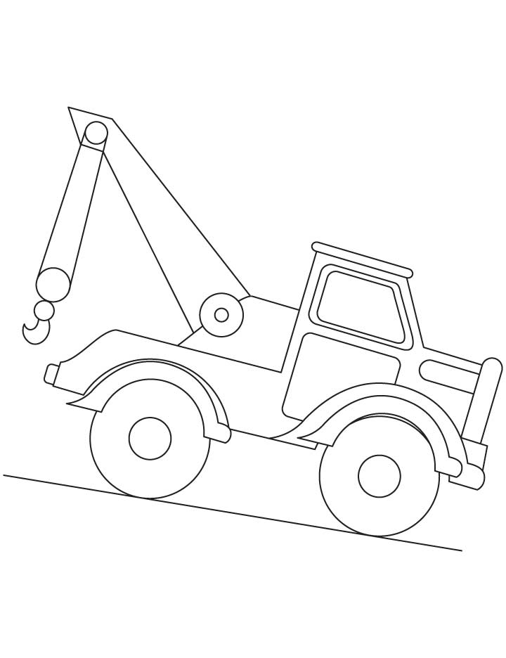 bull dozer coloring pages - photo#26