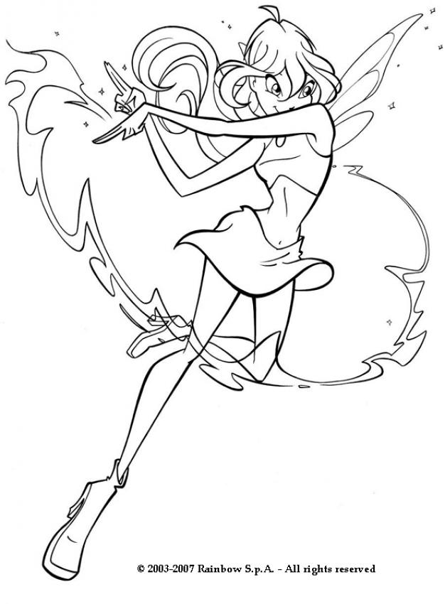 BLOOM Coloring Pages  Winx Fairy Bloom  Coloring Home