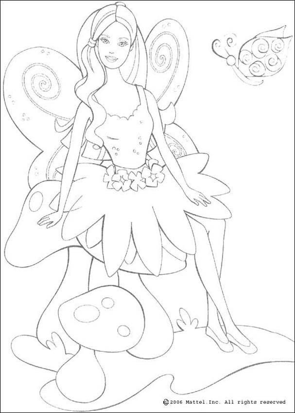 BARBIE DOLL coloring pages - Fairy Barbie