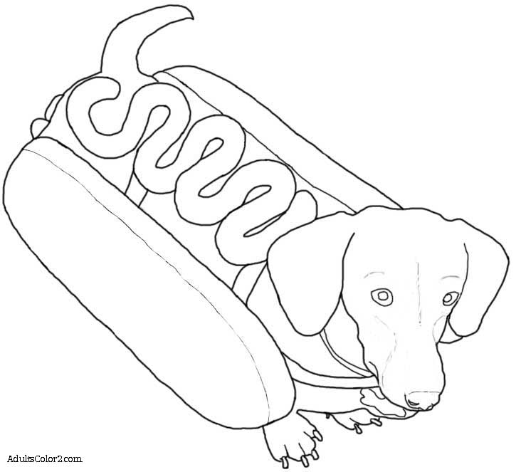 Printable Coloring Pages Of Dachsunds