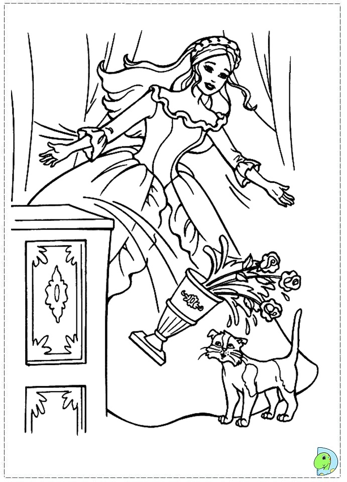Barbie As The Princess And Pauper Coloring Pages DinoKids