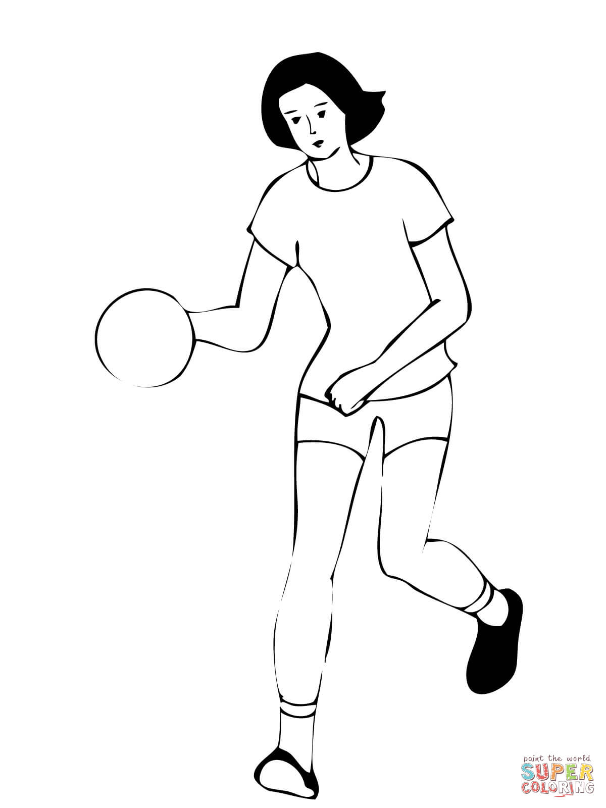Coloring pages for softball - Softball Players Coloring Page Free Printable Coloring Pages