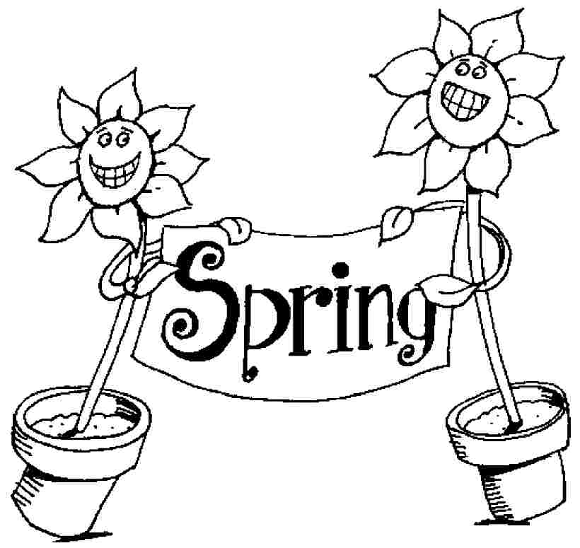 6 Pics Of Spring Season Coloring Pages Printable - Free ...