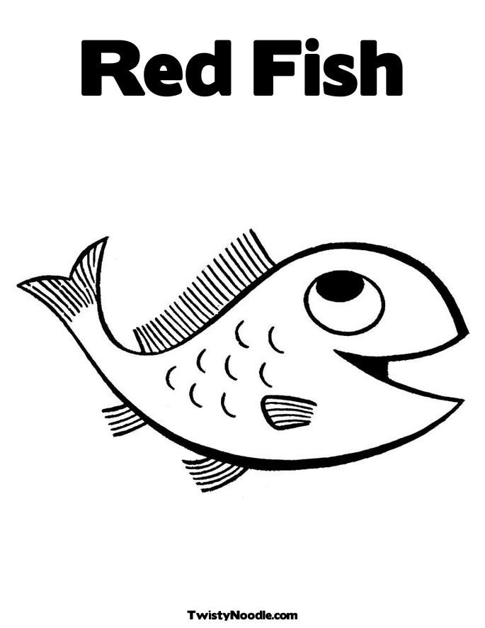 Red Fish Blue Fish Coloring Page  Coloring Home