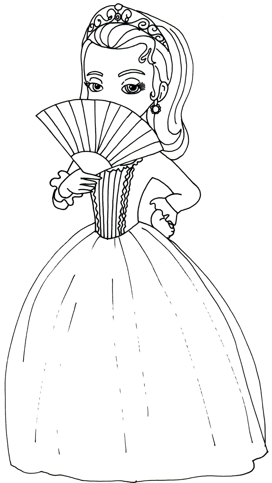 Princess hildegard coloring pages - Sofia The First Coloring Pages Princess Amber Sofia The First