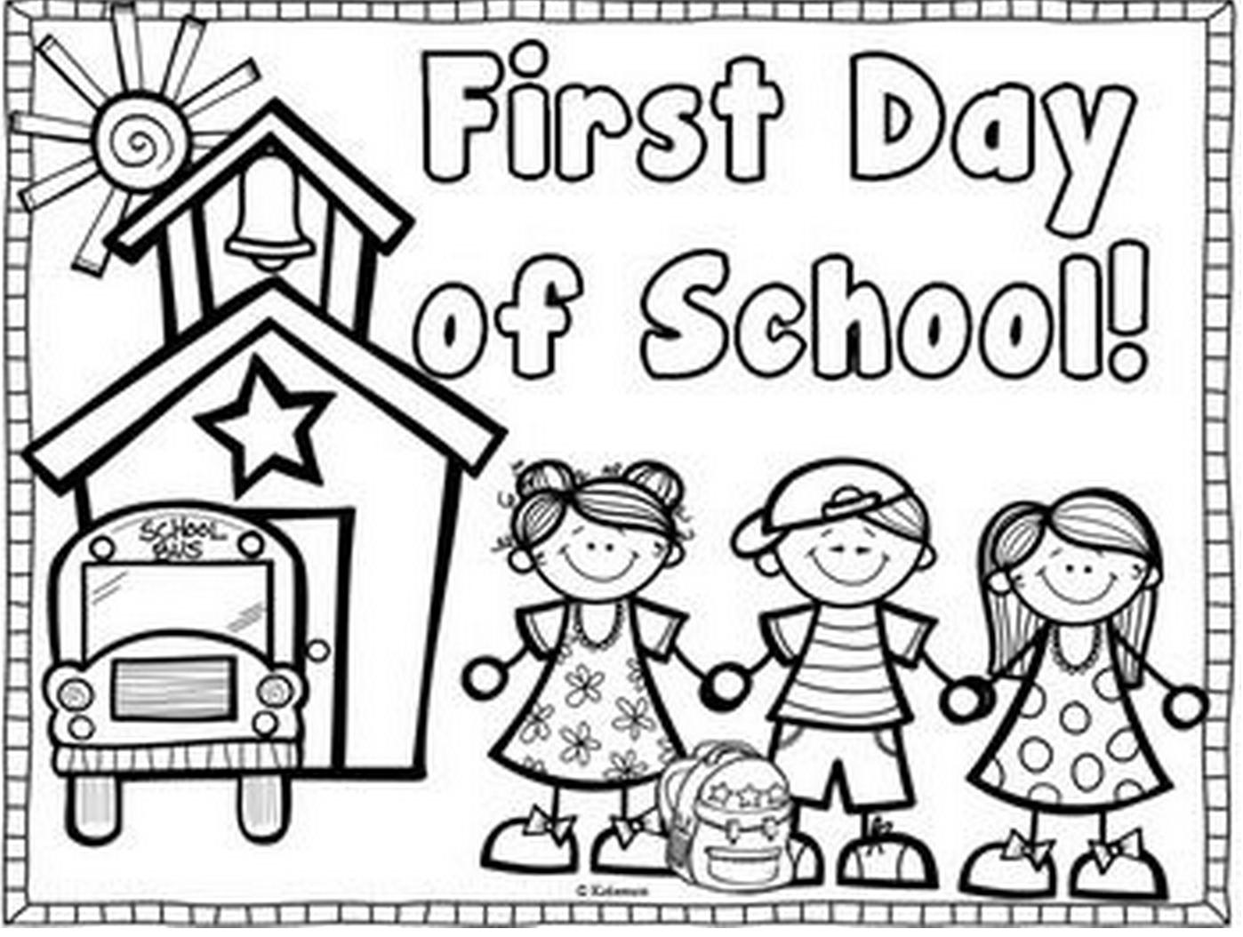 Uncategorized Welcome To Kindergarten Coloring Page first day of kindergarten coloring page kids first