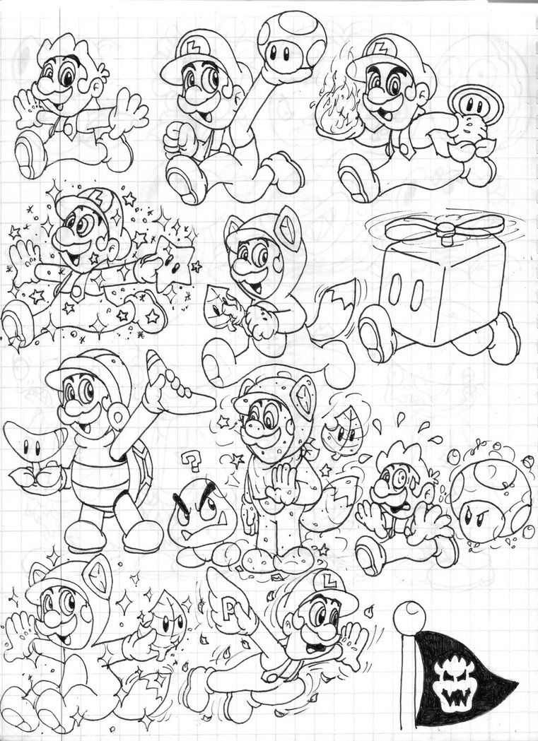 3d coloring pages - 11 Pics Of Mario 3d Land Coloring Pages Super Mario 3d World
