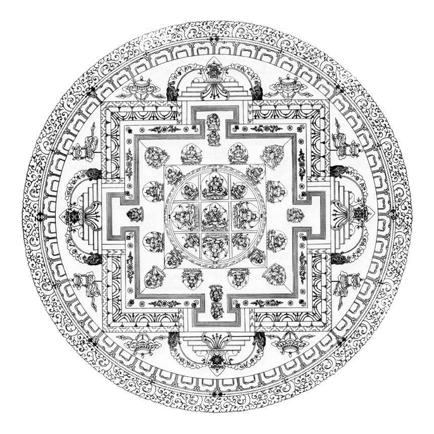 14 Pics Of Buddhist Mandala Coloring Pages - Buddhist Symbol ...