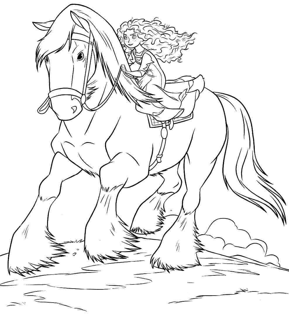11 pics of brave coloring pages printable disney princess merida