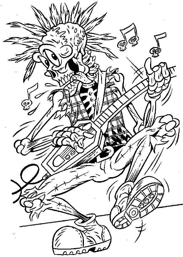 Scary Halloween Coloring Pages For Teens - Coloring Home