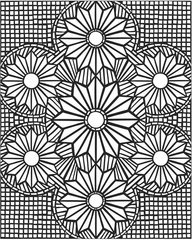 Mosaic patterns coloring pages coloring home for Mosaic patterns online
