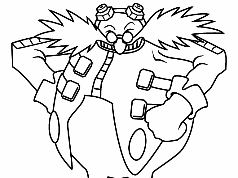 sonic the hedgehog dr eggman coloring pages