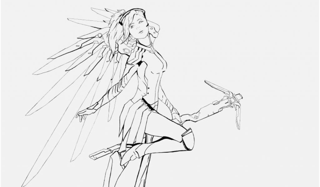 Overwatch Coloring Pages Pics Mercy Drawing At Getdrawings Coloring Home