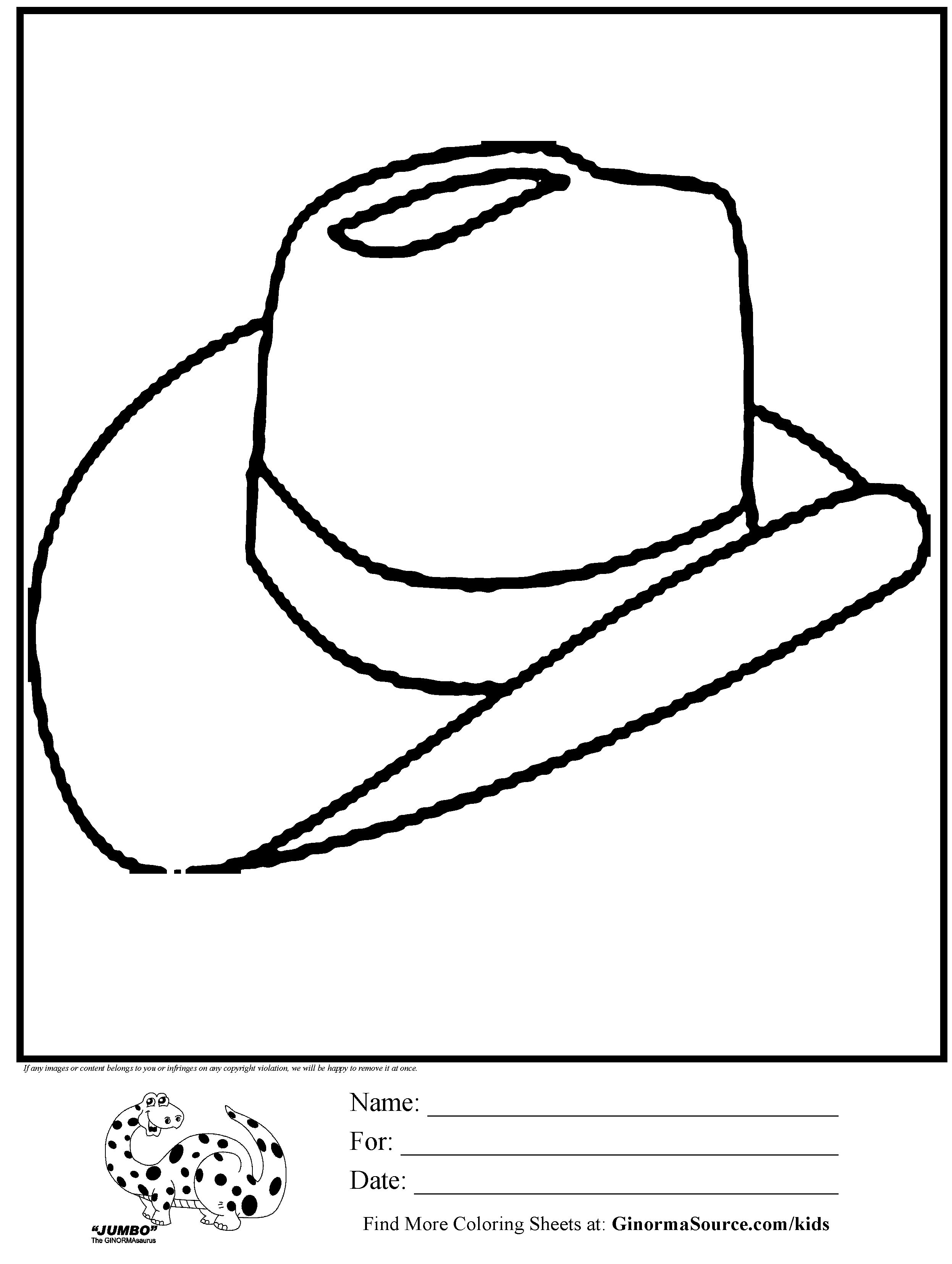 Cowboy Hat Coloring Page Az Coloring Pages Western Hat Coloring Page