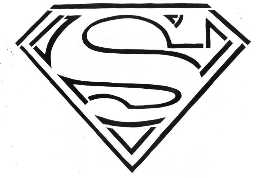 superman logo coloring pages coloring home