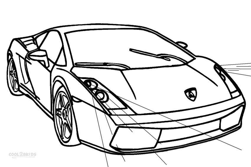 Lamborghini Egoista Pages Coloring Pages