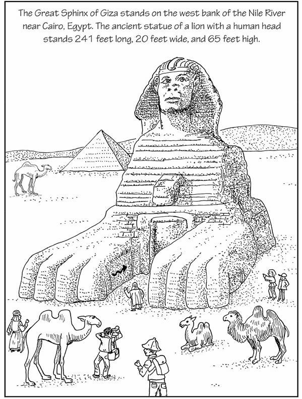 egyptian sphinx coloring pages - photo#3