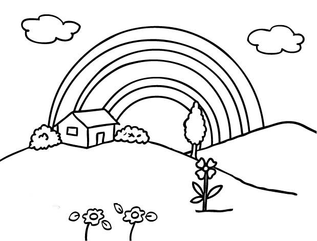 Rainbow Coloring Page Printable Coloring Pages For Kids #cNs ...