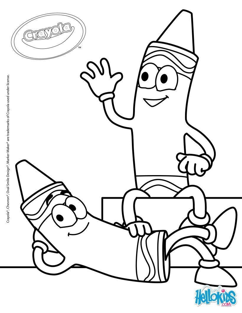 Crayola crayon coloring pages coloring home for Marker coloring page