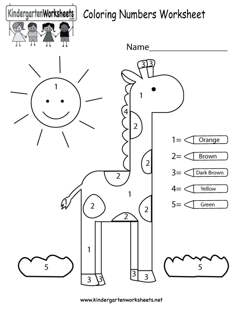 Kindergarten Math Coloring Pages
