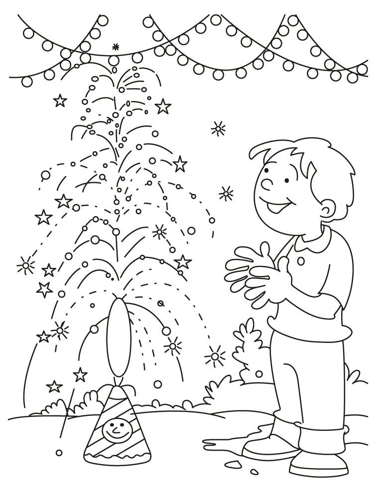 Diwali Coloring Pages - Coloring Home