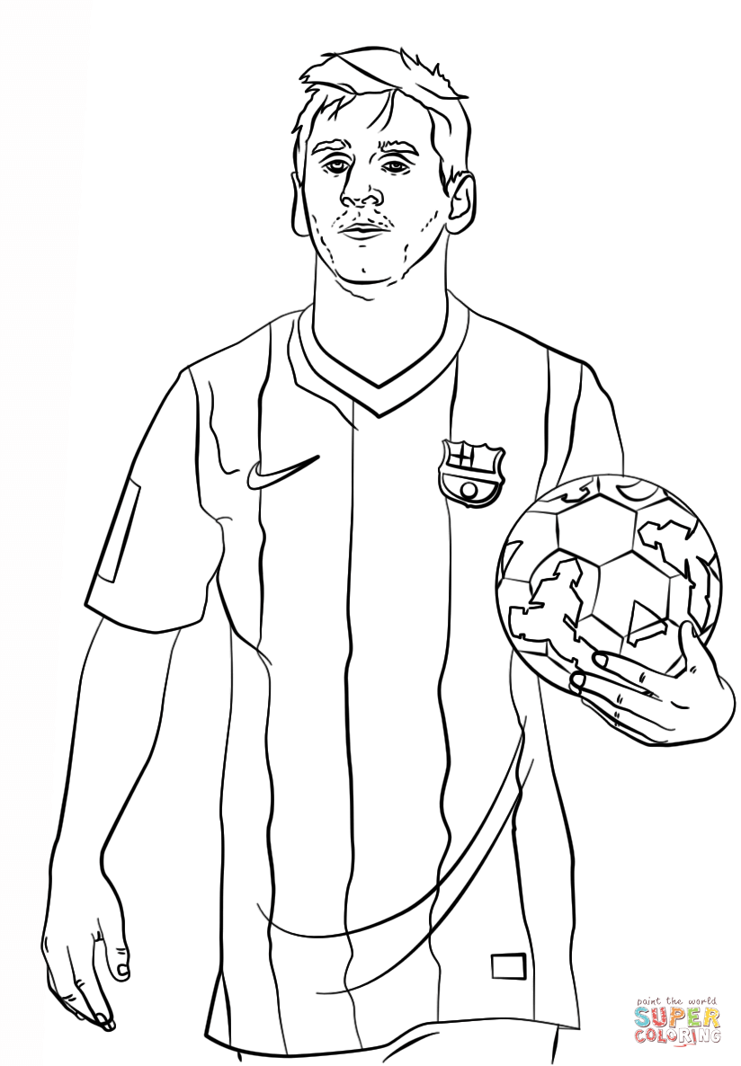 Lionel Messi coloring page | Free Printable Coloring Pages