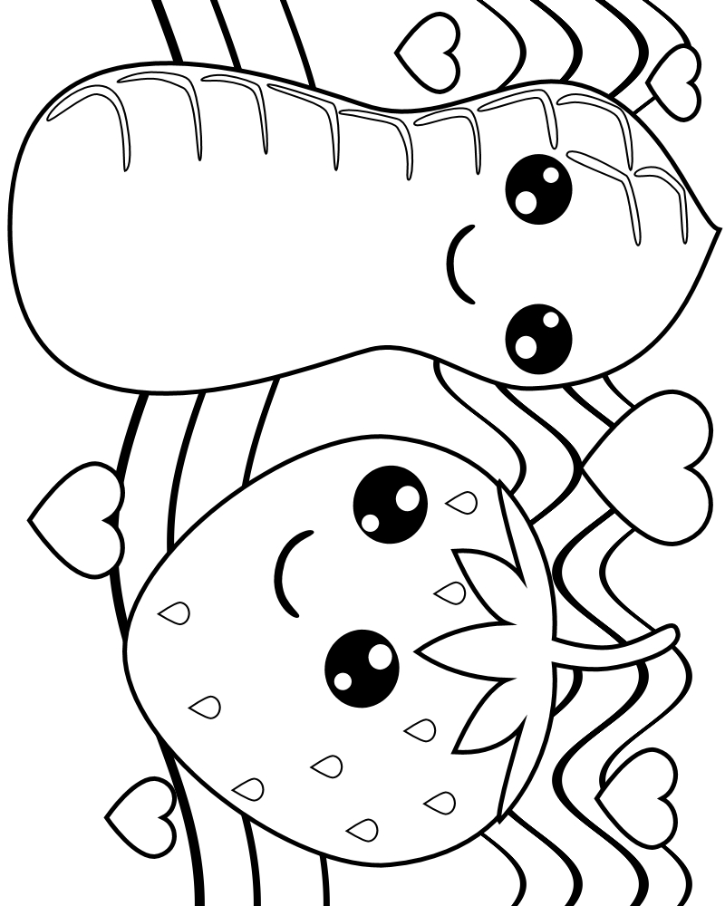 Cute Food Coloring Coloring Coloring Pages
