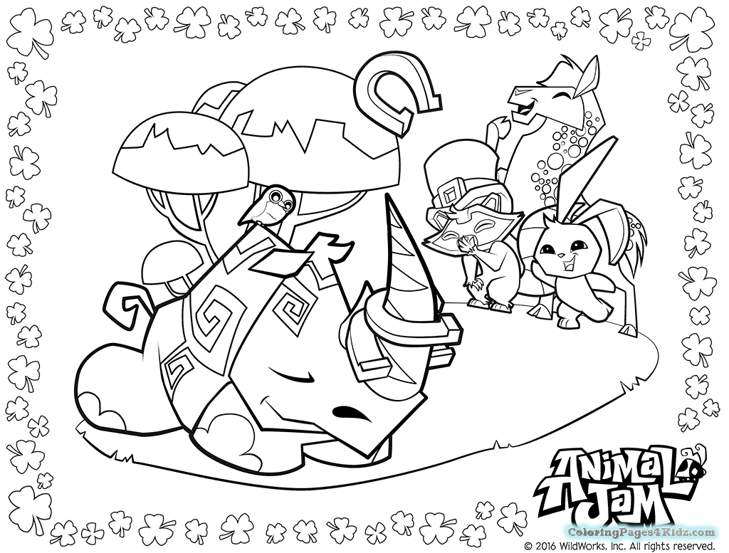 Animal Jam Coloring Pages - Coloring Pages For Kids