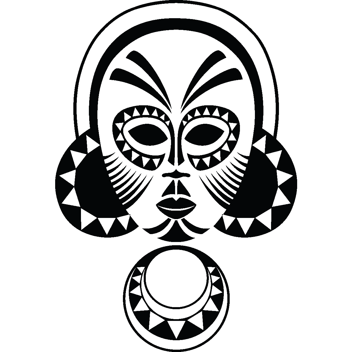 african tribal mask coloring pages - photo#8