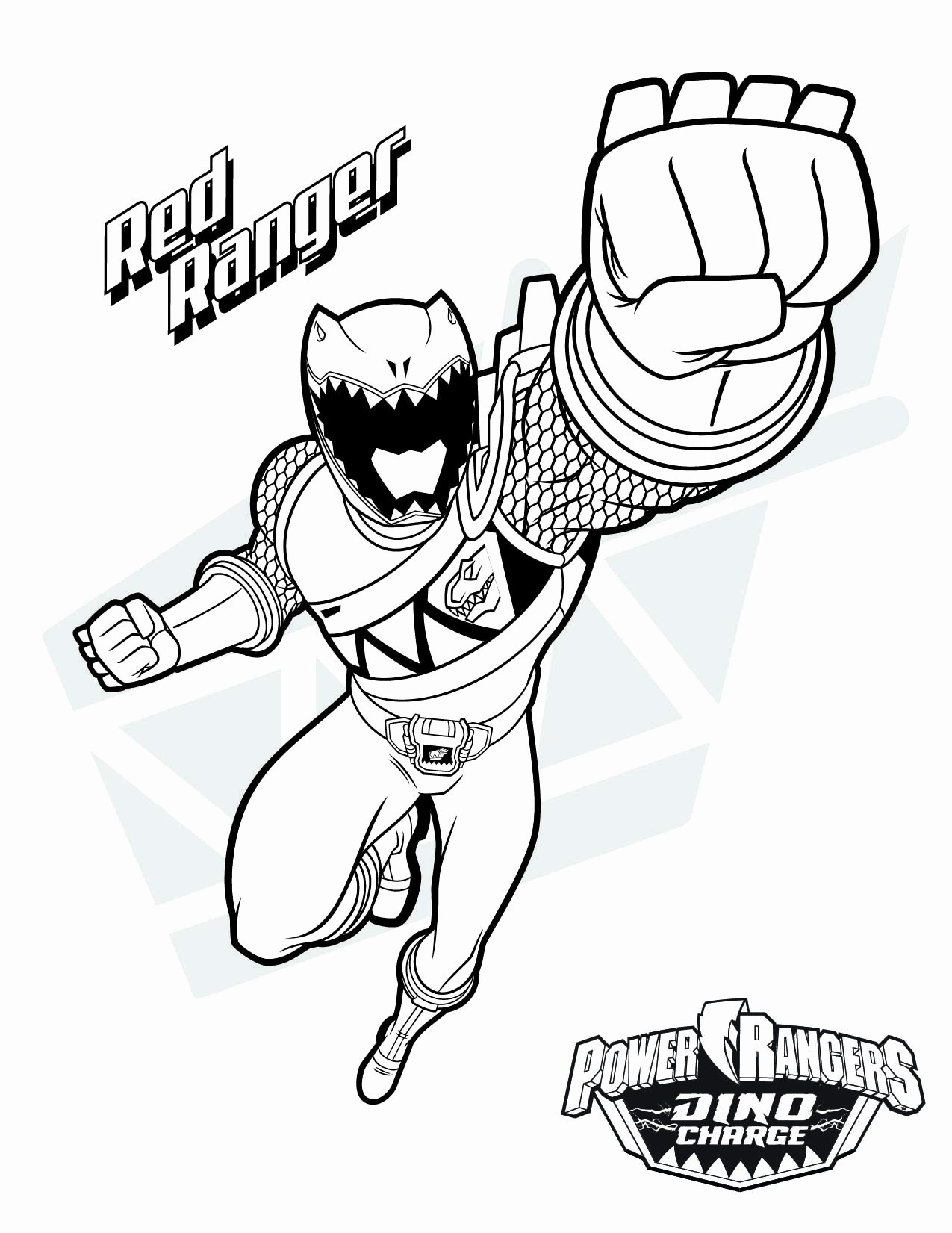 Coloring  Power Rangers Coloring Book Fresh Red Ranger Coloring ...
