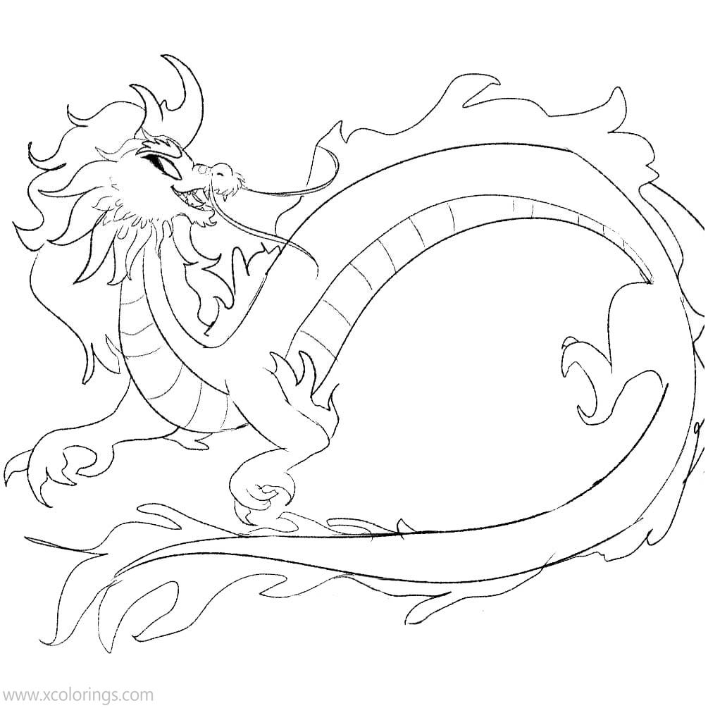 Raya And The Last Dragon Coloring Pages for Kids - XColorings.com