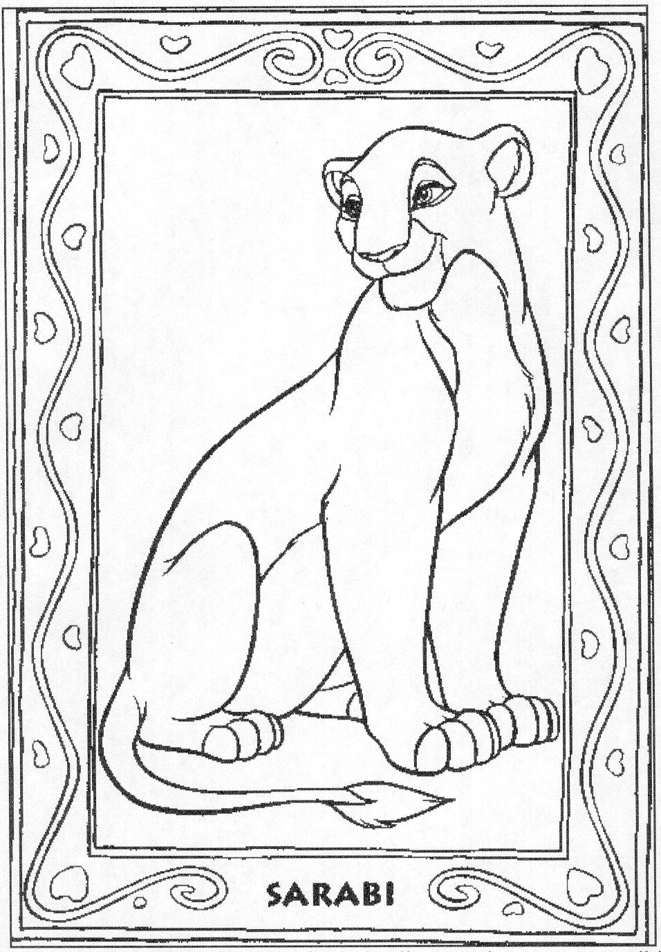 Coloring pages lion king - Disney Coloring Pages Lion King Free Large Images
