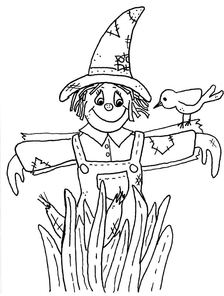 kids scarecrow coloring pages - photo#20