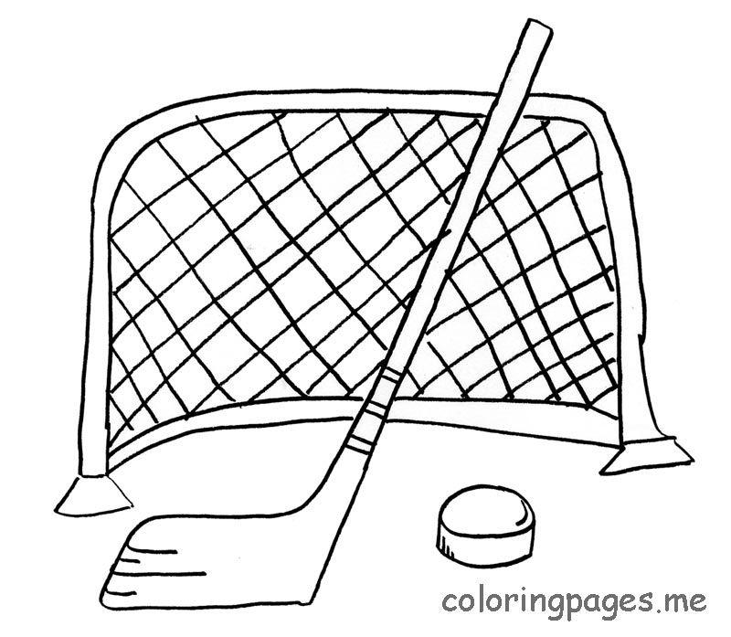 Free Printable Hockey Coloring