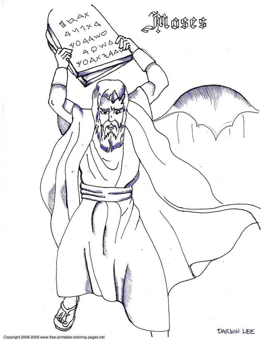 10 Commandments Coloring Pages Free